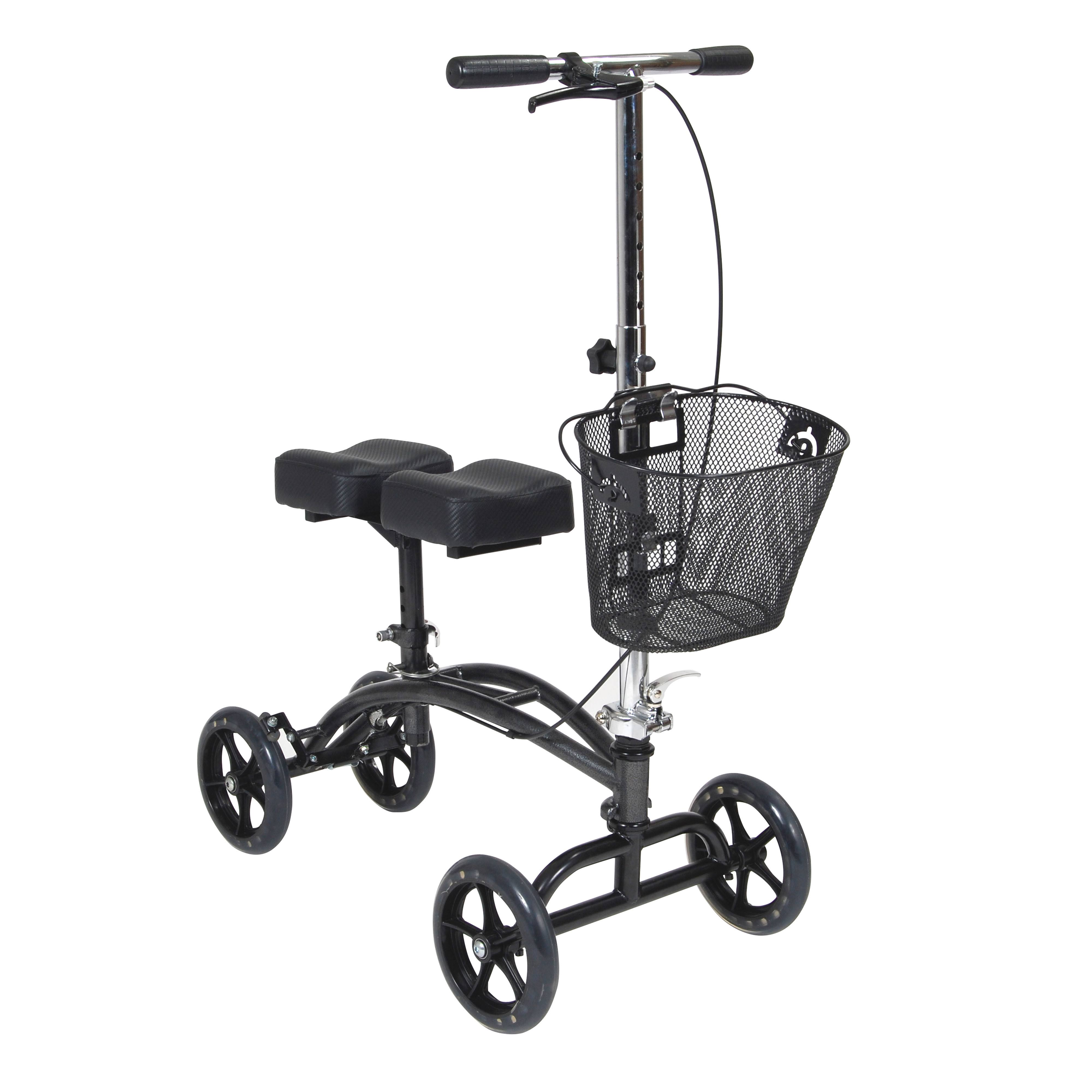 Drive Medical 796 Dual Pad Steerable Knee Walker - with Basket, Silver