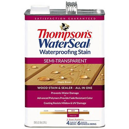 Thompsons WaterSeal Semi-Transparent Exterior Stain and Sealer - Acorn Brown, 1gal