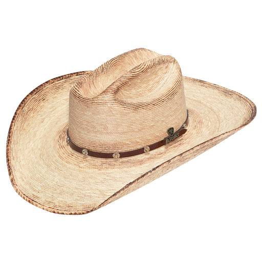 Ariat Double S Fired Palm Straw Hat - Brown