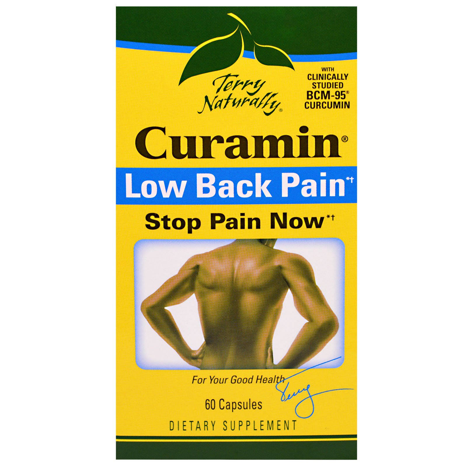 Terry Naturally Curamin Low Back Pain Dietary Supplement Capsules - 60ct