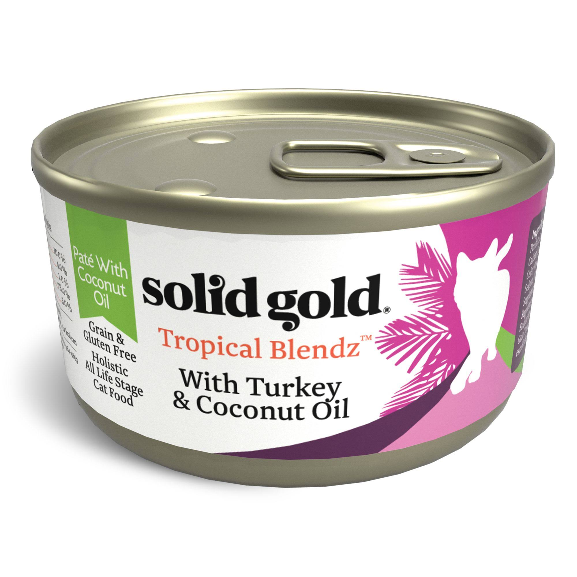 Solid Gold 3 oz Tropical Blendz Pate with Coconut Oil Cat Food