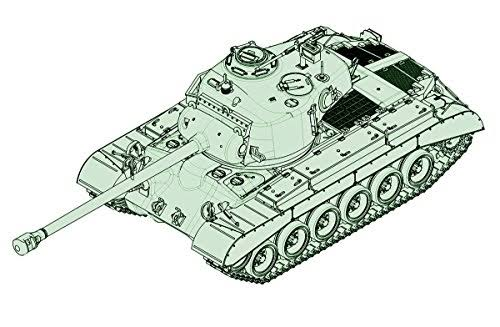 US M26 Heavy Tank w/90mm T15E2M2, 1/72 by Trumpeter, Model Vehicle