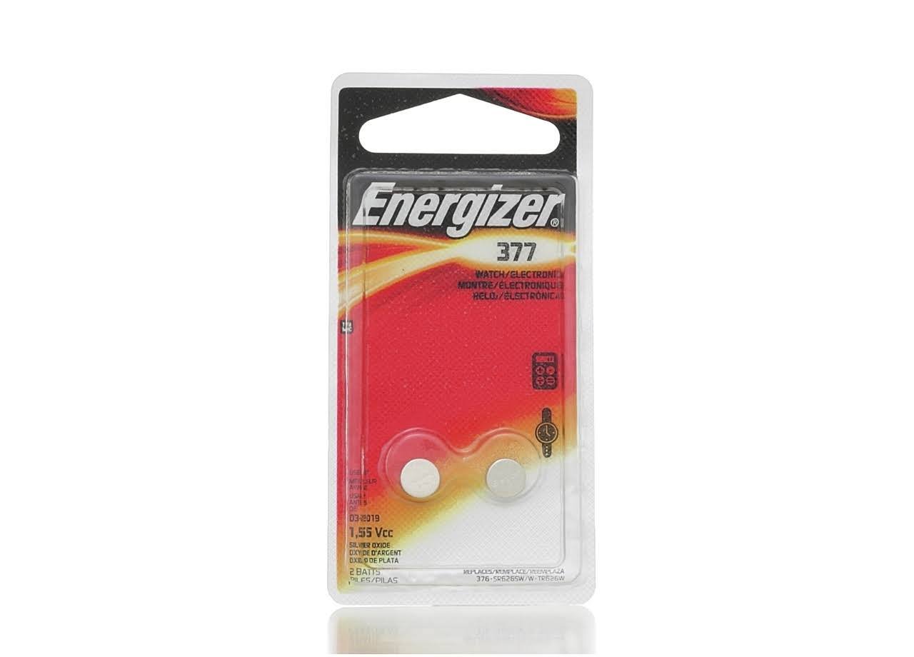 Energizer 377 Watch Battery - 2 Batteries, 1.55V