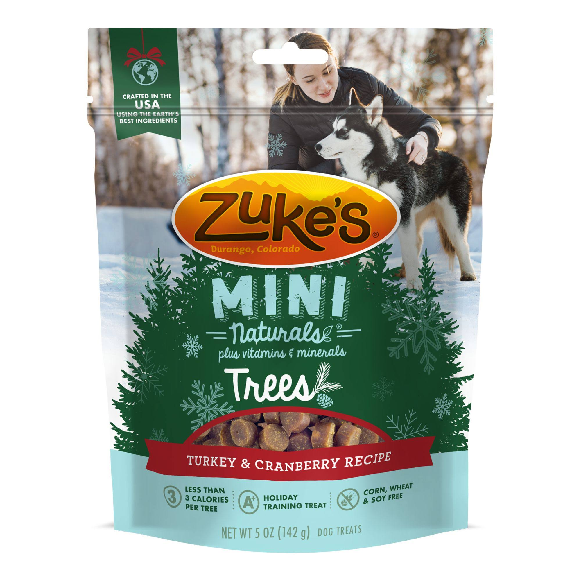 Zuke's Mini Naturals Turkey & Cranberry Recipe Dog Treats 5 oz