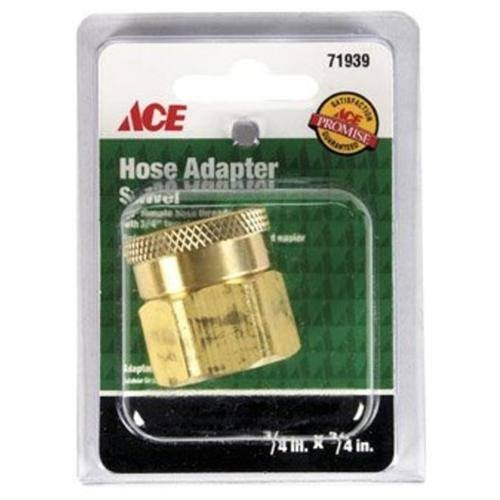 "Ace Brass Swivel Female 3/4"" Hose Thread to 3/4"" FPT, 71939"