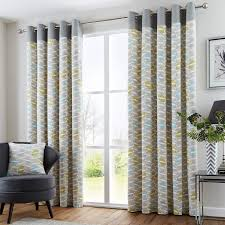 Modern Curtains For Living Room Uk by Copeland Geometric Modern Eyelet Curtains Grey Duck Egg