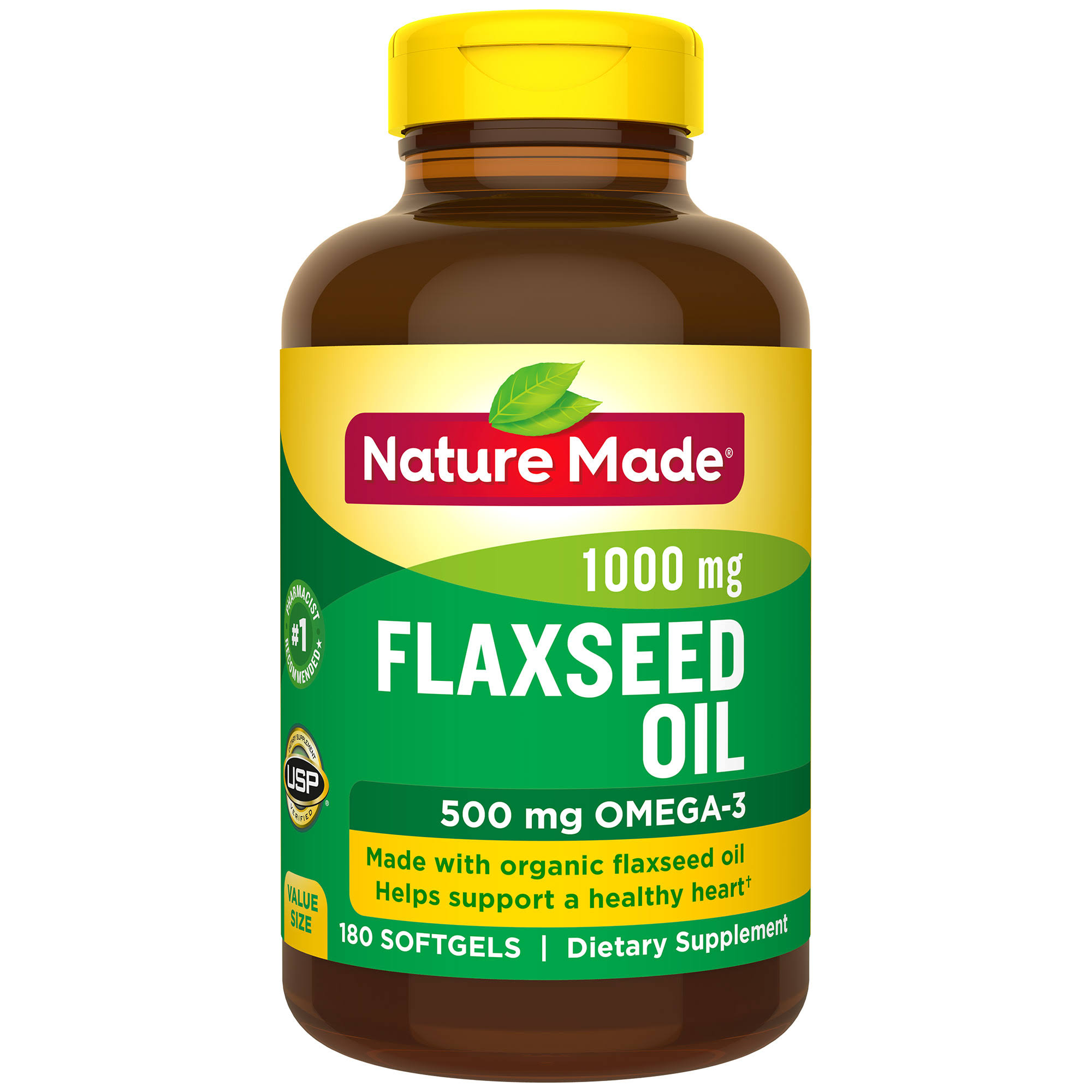 Nature Made Flaxseed Oil Dietary Supplement - 1000mg, 180ct