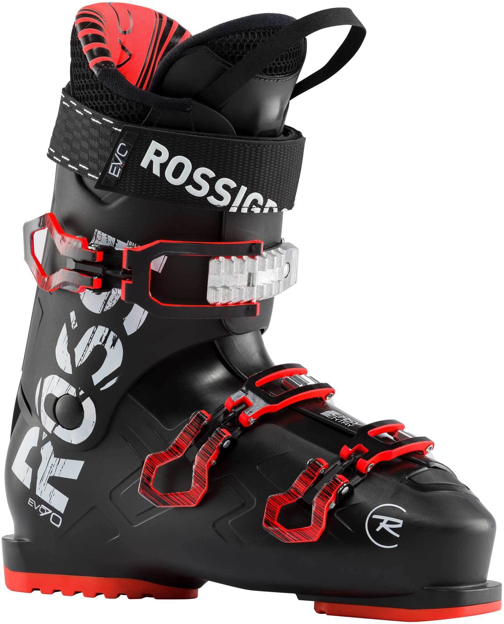 Rossignol Evo 70 Ski Boots - Black and Red, Size 26.5