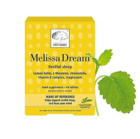 New Nordic Melissa Dream Food Supplement - 40 Tablets