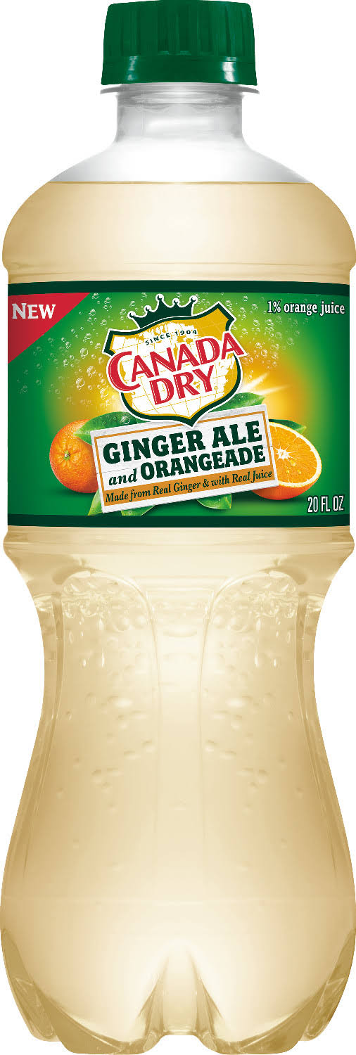Canada Dry Ginger Ale and Orangeade - 20 fl oz Bottle