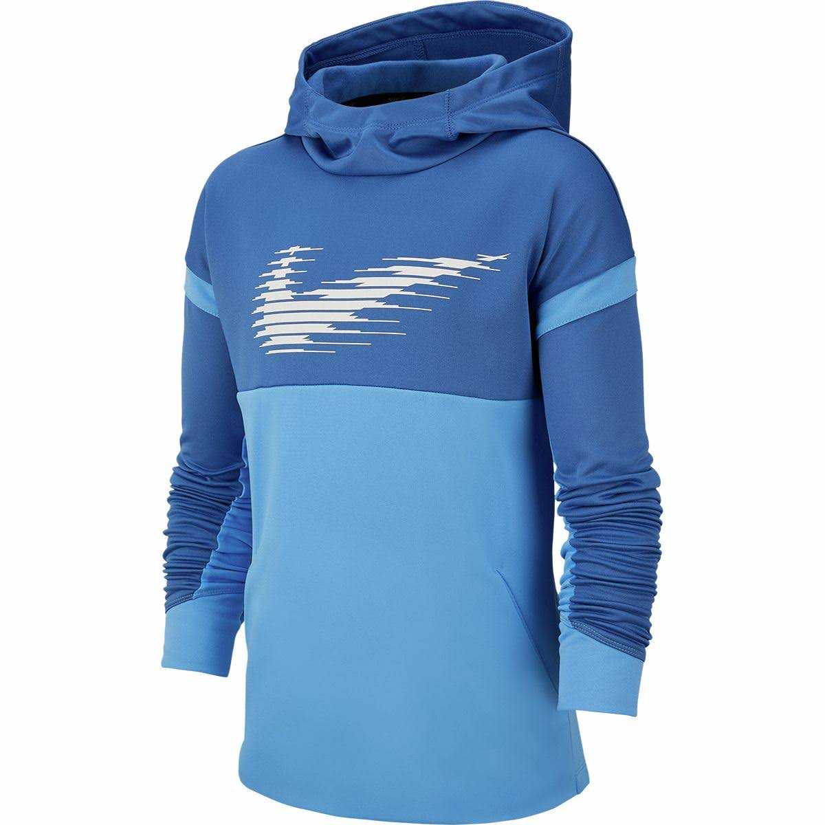 Nike Boys' Mountain Blue/University Blue Therma Pullover Hoodie - L