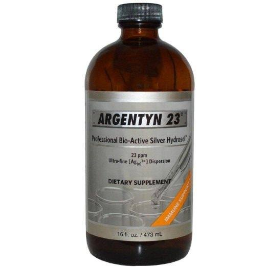 Natural Immunogenics Argentyn 23 Professional Bio-Active Silver Hydrosol Dietary Supplement - 23ppm