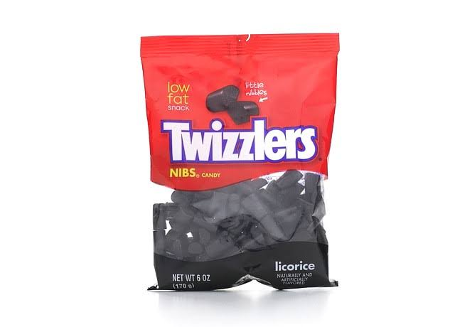 Twizzlers Nibs Licorice - Black, 170g