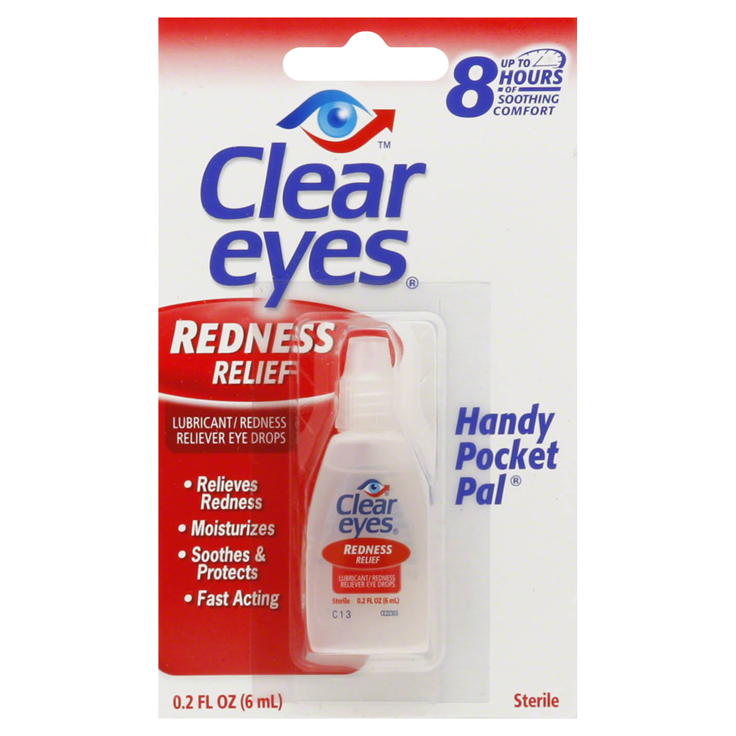 Clear Eyes Redness Relief Handy Pocket Pal - 0.2 fl oz