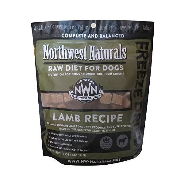 Northwest Naturals Raw Diet Freeze Dried Lamb Dog Food 12oz