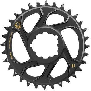 Sram X Sync 2 Direct Mount Eagle Chainring - Black and Gold, 34T