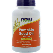Pumpkin Seed Oil For Hair Loss Dosage by Now Foods Pumpkin Seed Oil 1000 Mg 100 Softgels Iherb Com