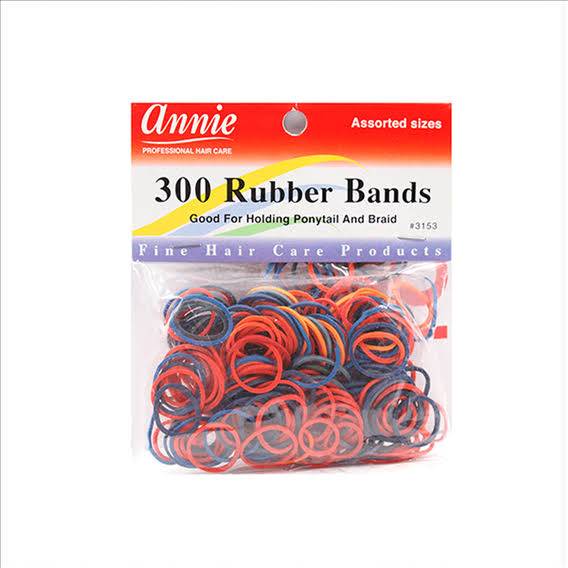 Annie Rubber Bands, Assorted - 300 bands