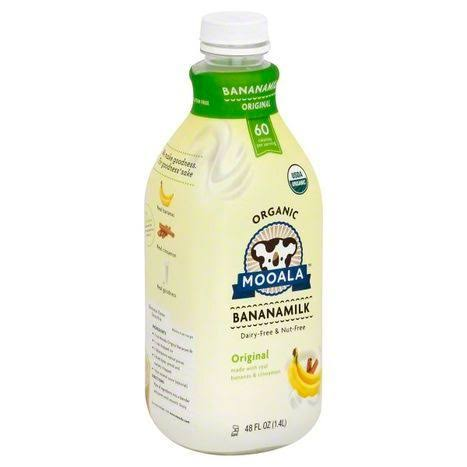 Mooala Organic Banana Milk, Original - 48 fl oz bottle