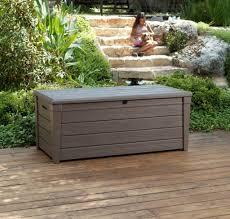 Build Outdoor Storage Bench by Furniture Gallon Deck Box Walmart Patio Cushion Storage Box In