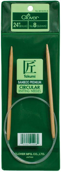 Clover Bamboo Circular Knitting Needles - Size 5, 24in