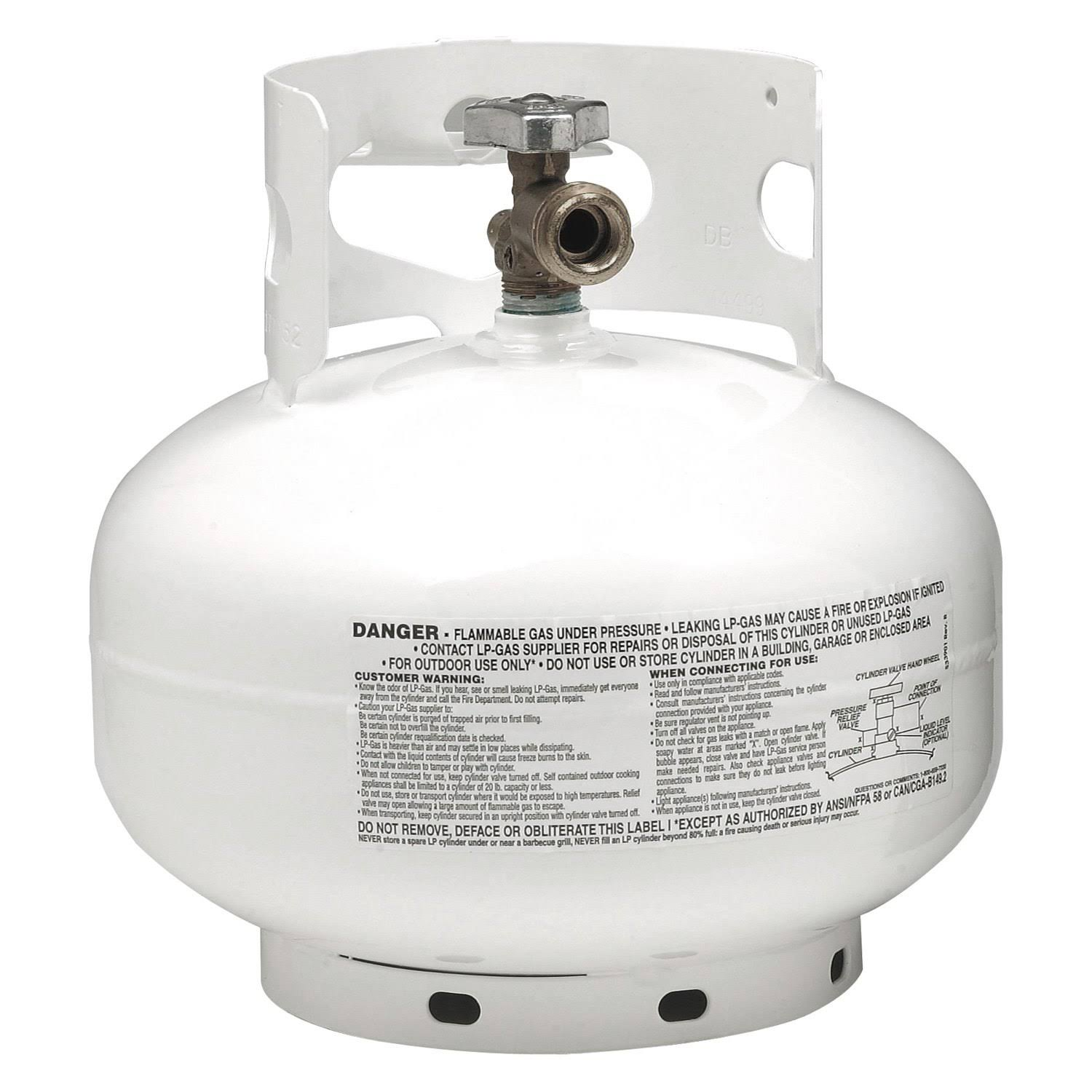 Manchester Tank 103931 Propane Cylinder - White