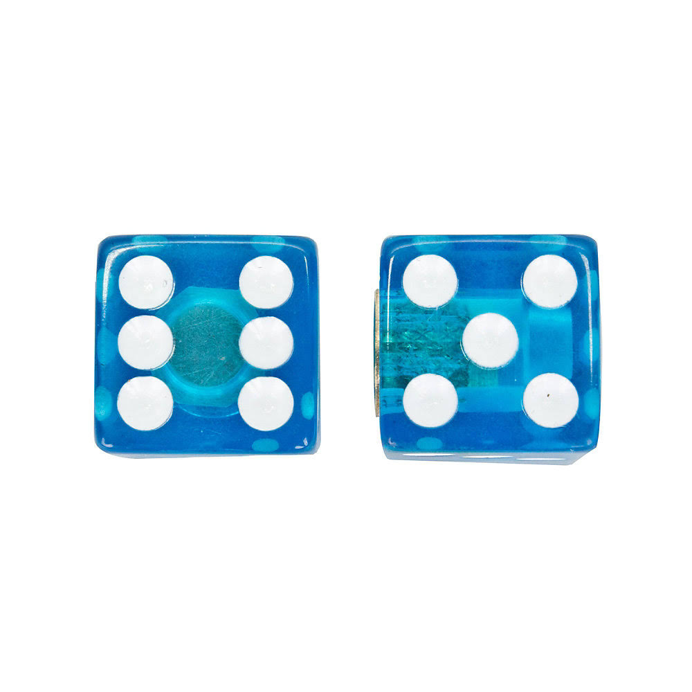 Trick Top Valve Caps Dice - Clear Blue