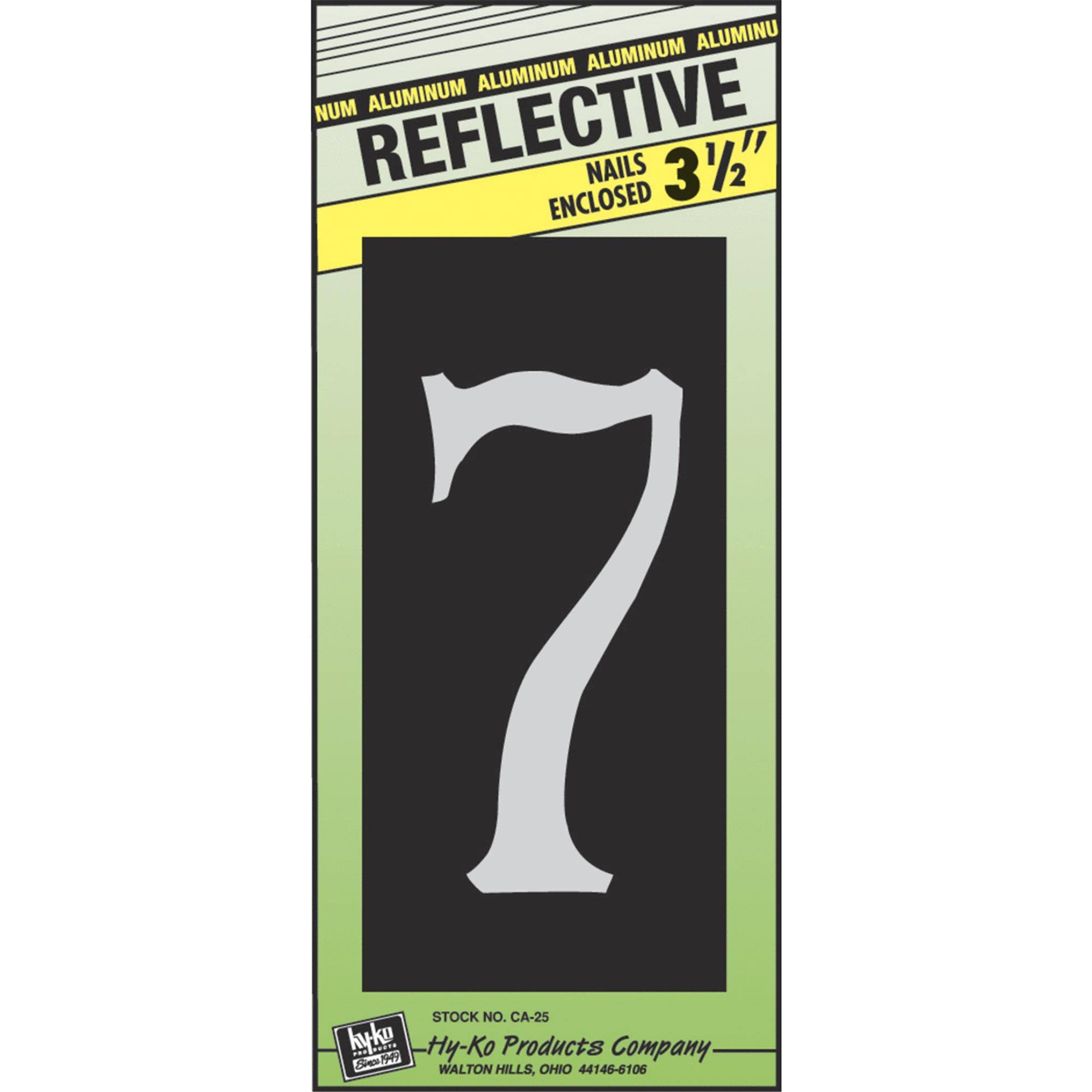 Hy-ko Products House Number Sign - #7, Aluminum, 3.5""