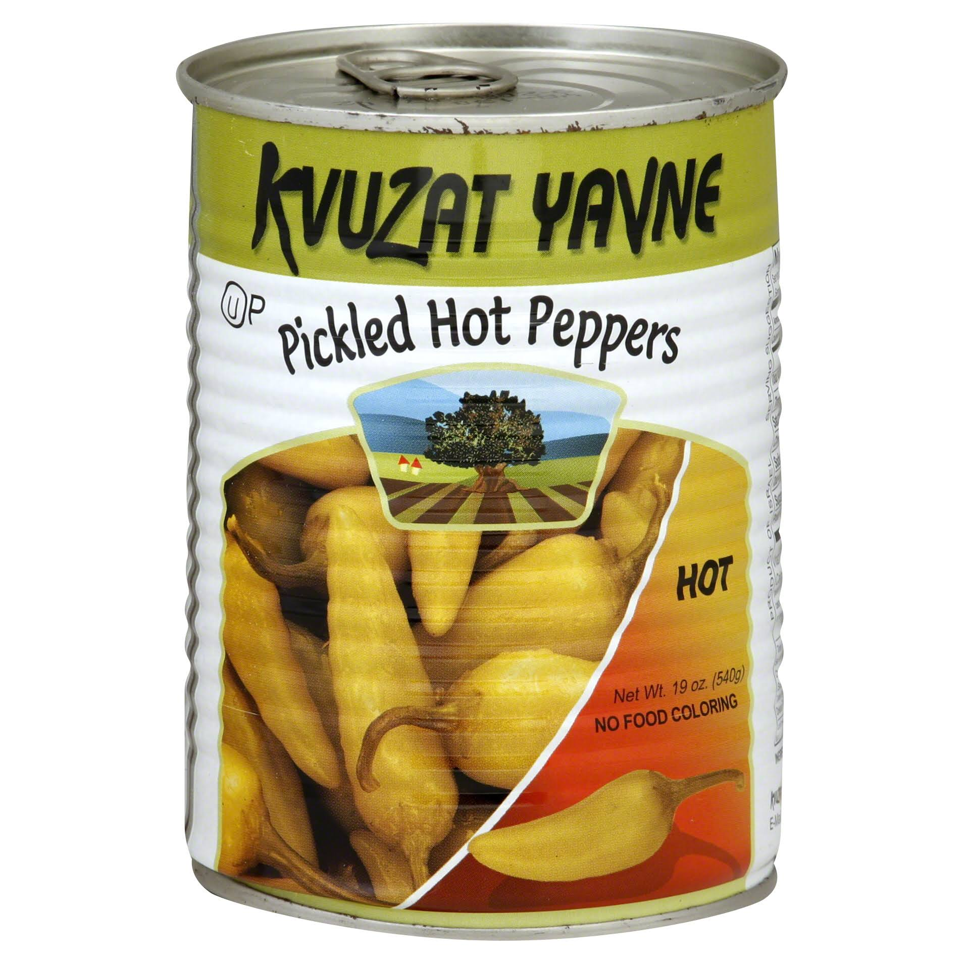 Kvuzat Yavne Hot Peppers, Pickled - 19 oz