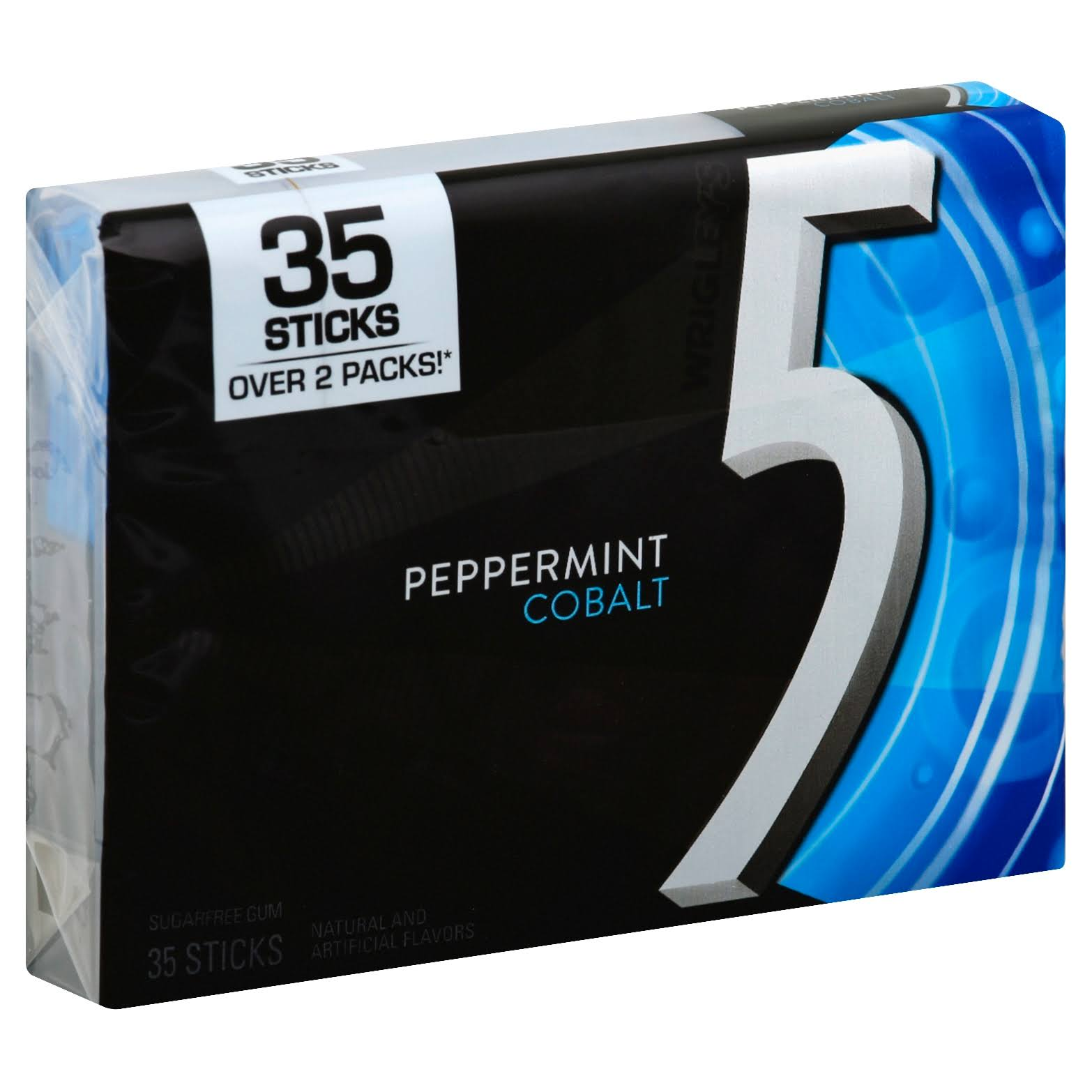 Wrigley's 5 Peppermint Cobalt Sugarfree Gum - 35 Sticks