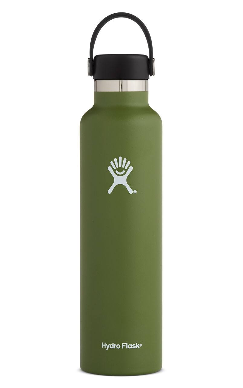 Hydro Flask Standard Mouth Water Bottle - Olive, 24oz