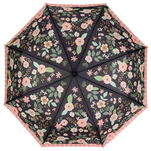 Karma Umbrella Charcoal Flowers