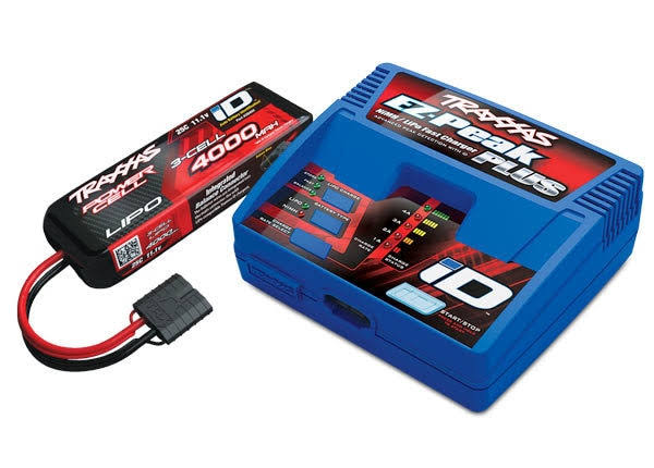 Traxxas 2994 EZ-Peak ID Charger & 3S 4000mAh Lipo Battery Completer