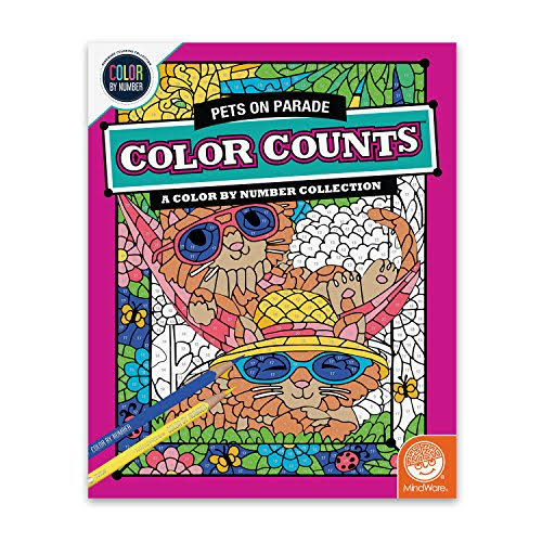 Mindware Colour By Number Counts Craft Kit - Pets on Parade