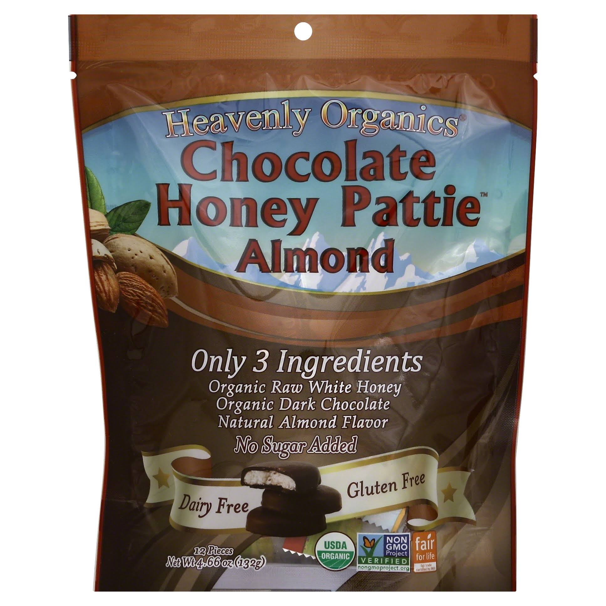 Heavenly Organics Chocolate Honey Patties - Almond, 4.66oz