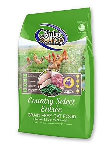 NutriSource Country Select Entrée Grain-Free Dry Cat Food - Chicken, 15lbs