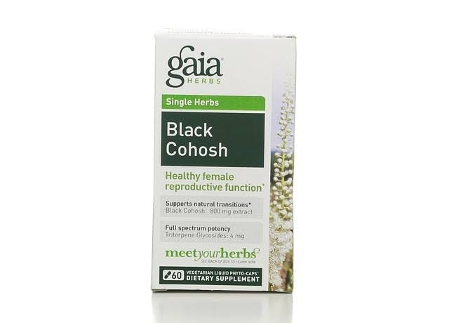 Gaia Single Herbs Black Cohosh, Vegetarian Liquid Phyto-Caps - 60 phyto-caps