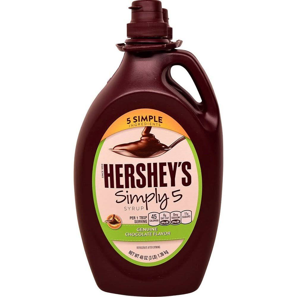 Hershey's Simply 5 Chocolate Syrup - 2 pack, 48 fl oz bottles