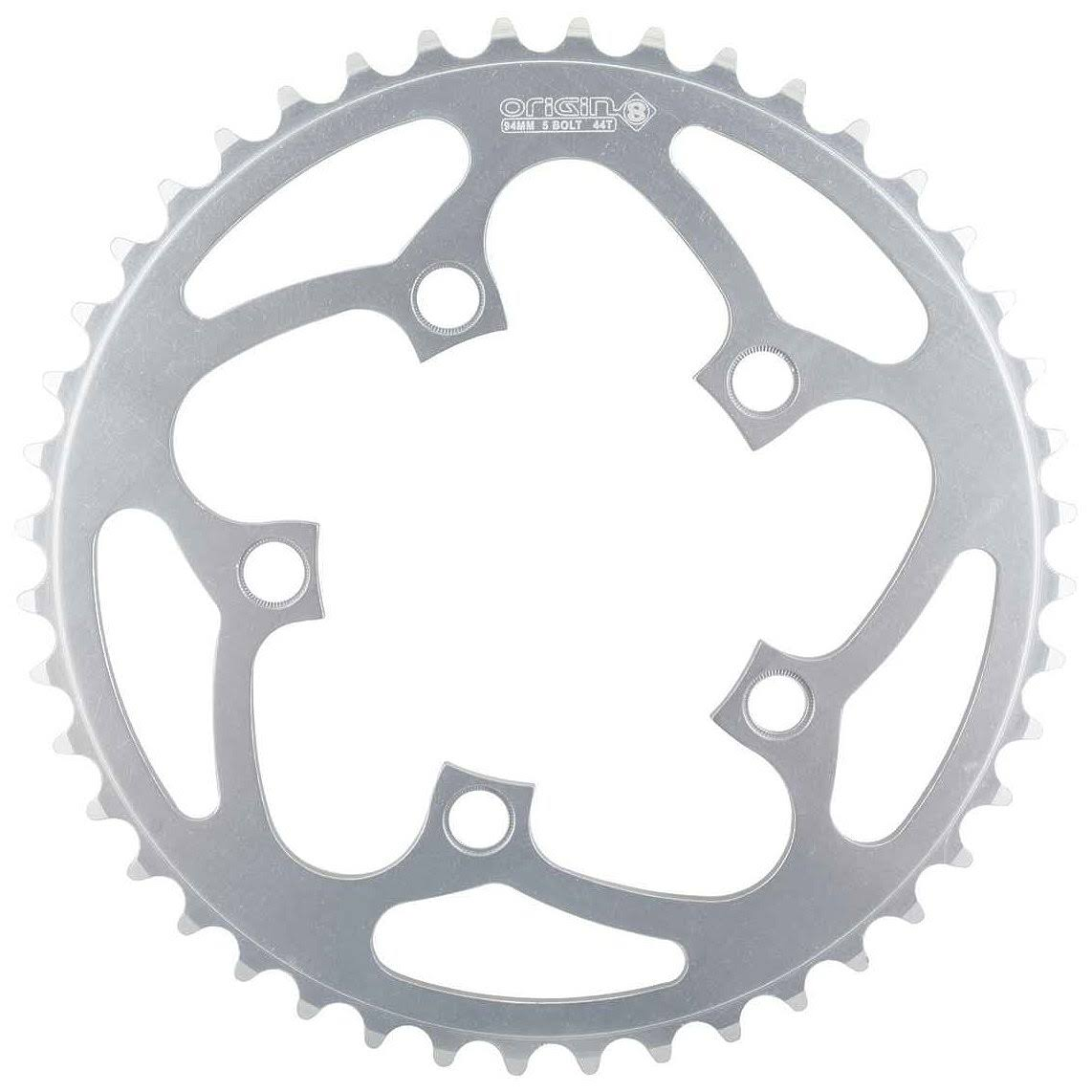 Origin8 Blade Alloy Bicycle Chainring - Silver, 94mm, 5-bolt, 44t