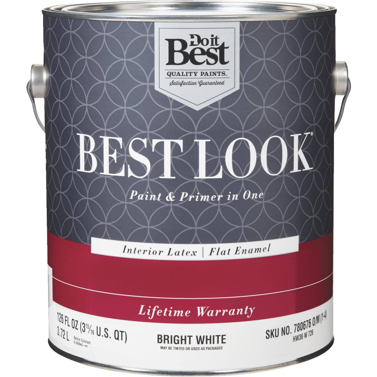 Do it Best Best Look Latex Paint & Primer In One Flat Enamel Interior Wall Paint - Bright White