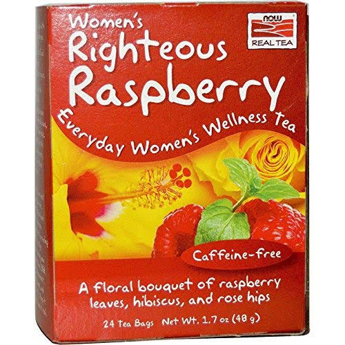 Now Foods Women's Righteous Raspberry Tea - x24