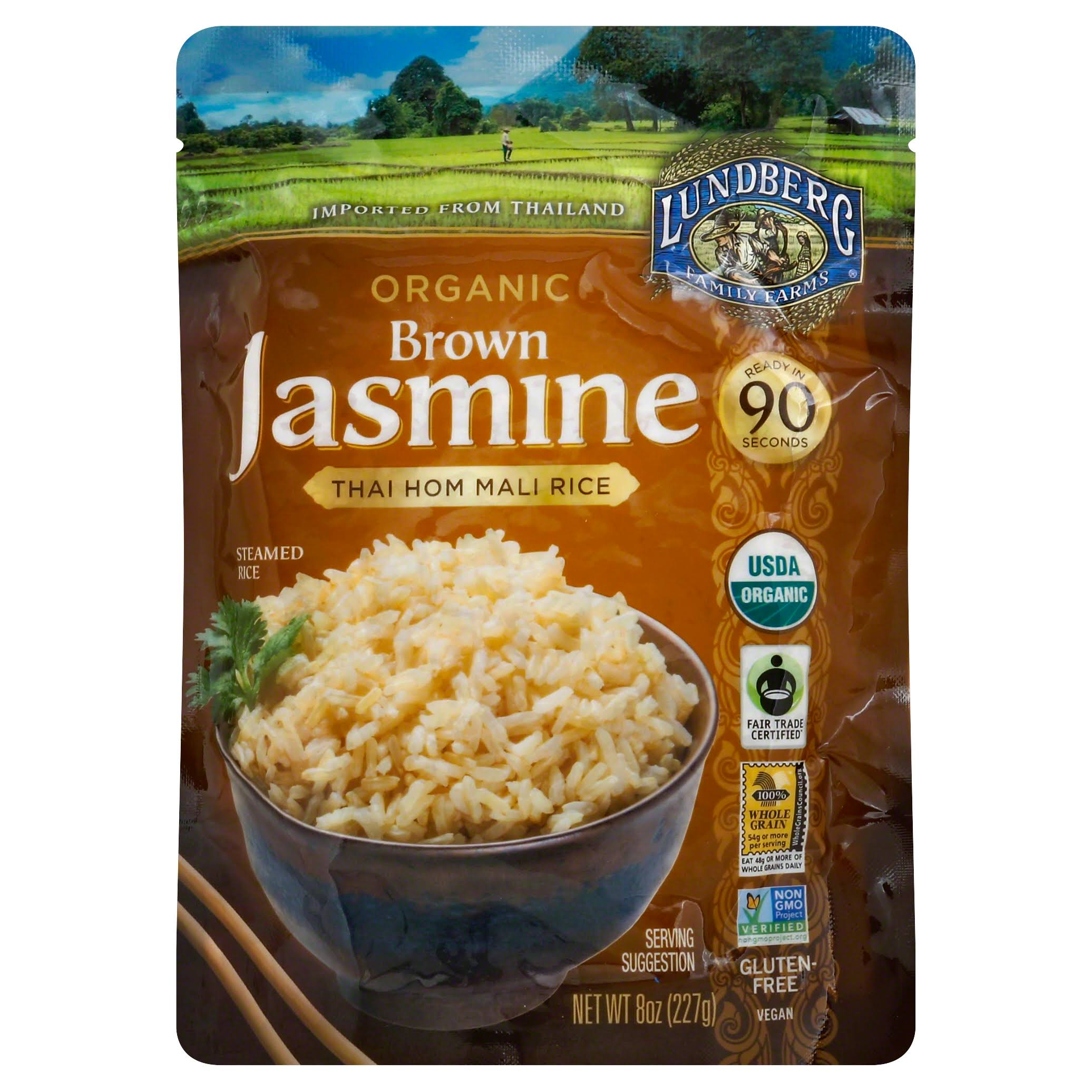 Lundberg Organic Rice - Brown, Jasmine, 8oz