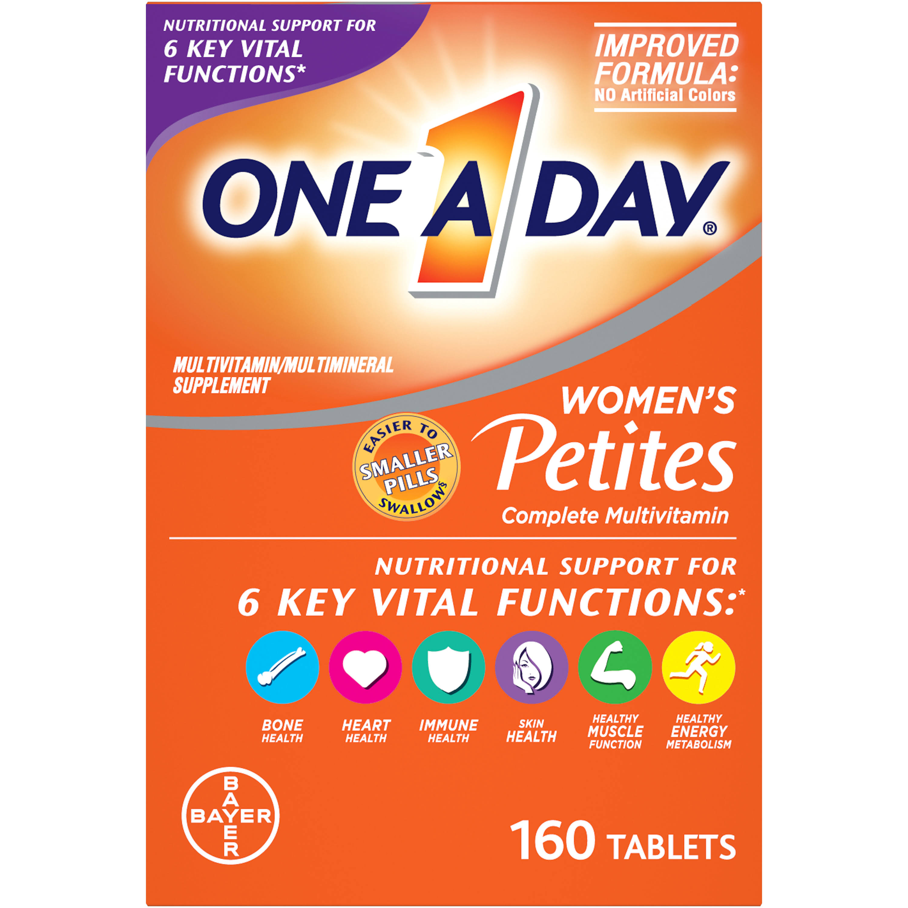 One a Day Womens Petites Complete Multivitamin Supplement - 160ct