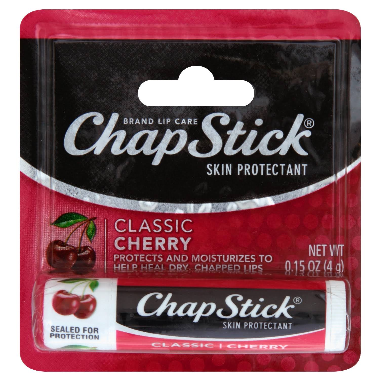 Chap Stick Classic Lip Balm Tube - Cherry Flavor, 0.15oz