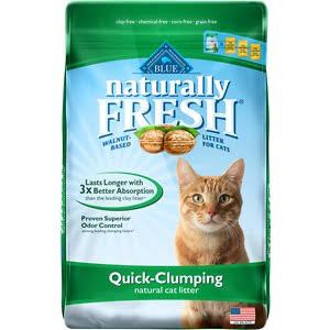 Blue Buffalo Natural Fresh Cat Litter - Walnut, Quick Clumping, 26lb