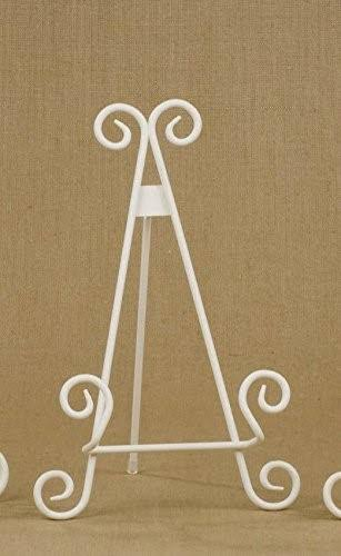 "Tripar 9"" Antique White Stratford Metal Easel"
