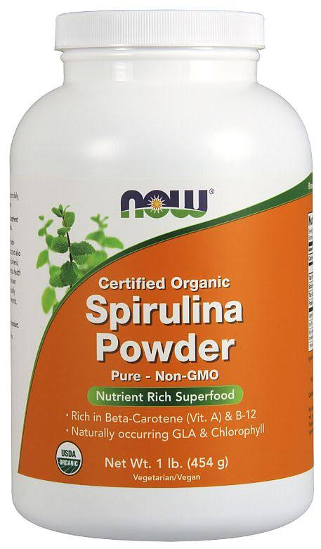 Now Foods Organic Spirulina Powder - 454g
