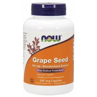 Now Foods Grape Seed - 200 Vcaps, 100mg