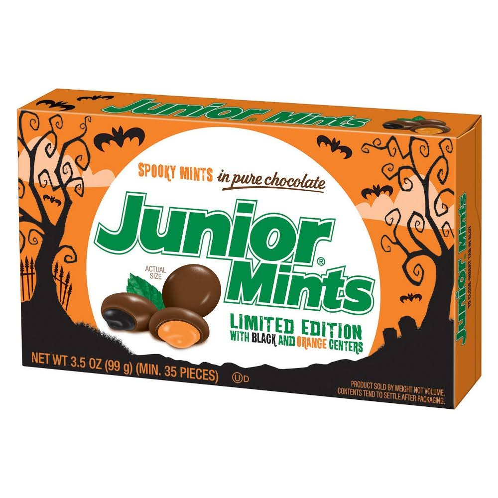 Junior Mints Mints, In Pure Chocolate, Spooky - 3.5 oz