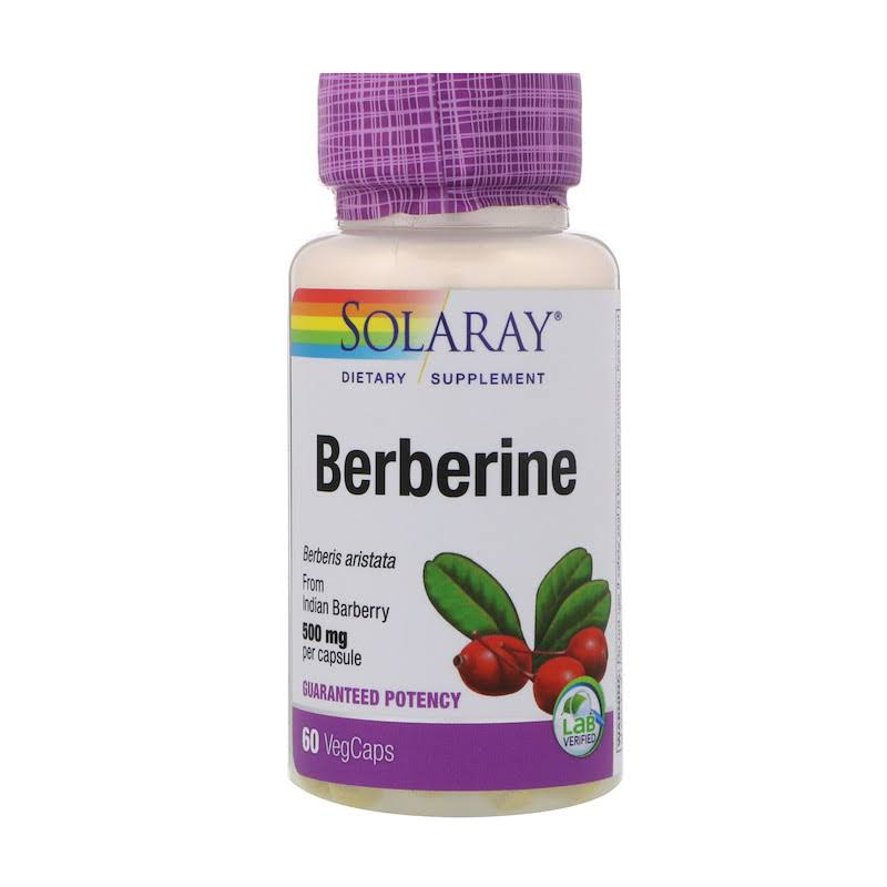 Solaray Berberine Supplement - 500mg, 60 VegCaps